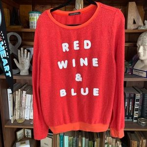 """Wildfox """"red wine and blue"""" jumper"""